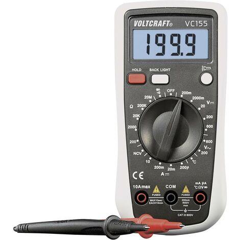 Multimètre numérique VOLTCRAFT VC155 CAT III 600 V Affichage (nombre de points):2000