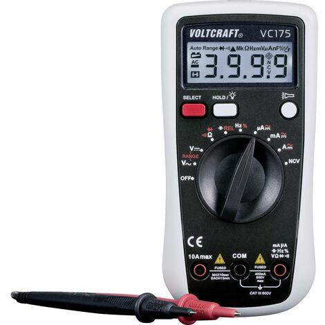 Multimètre numérique VOLTCRAFT VC175 CAT III 600 V Affichage (nombre de points):4000