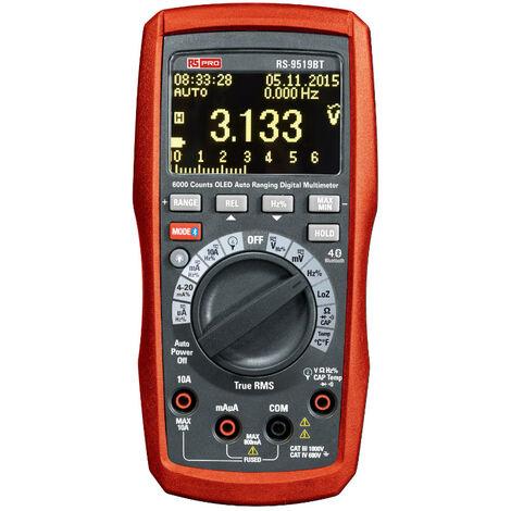 Multimètre RS 9519BT RS PRO Portable, 1000V c.a. 10A c.a.