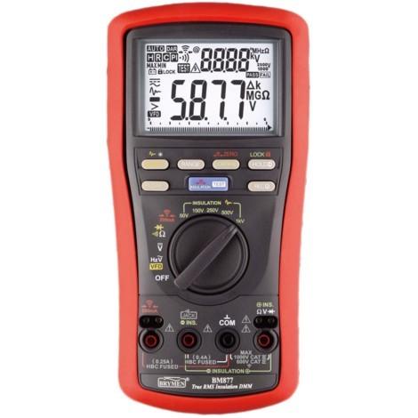 Multimètre testeur d'isolement avec télécommande 6 fonctions avec indicateur d'index Brymen BM877