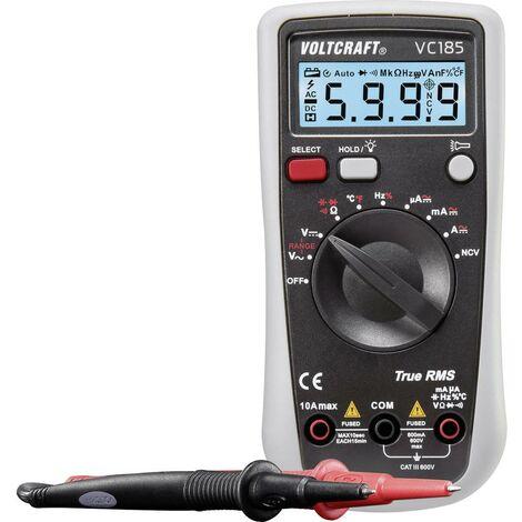 Multimètre VOLTCRAFT VC185 VC185 numérique CAT III 600 V Affichage (nombre de points): 6000 1 pc(s)
