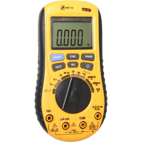 Multimètre : Voltmètre, Ampèremètre, Ohmmètre, Thermomètre, Capacimètre