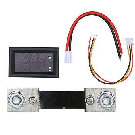 "Multimetro digital, amperimetro de voltimetro LED de 0.28 "", 100V 100A, pantalla dual azul roja"