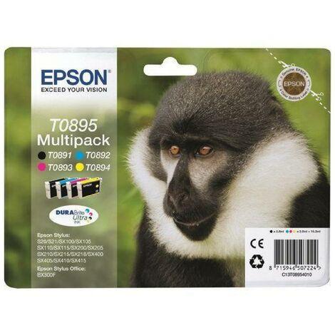 Multipack 4 cartouches encre T0895 - Noir. Cya... Epson