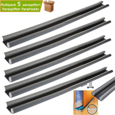 Multipack 5 pezzi parafreddo paraspifferi sottoporta in polietilene lunghezza cm 95 antracite
