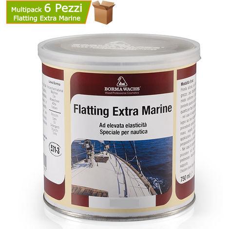 Multipack 6 pezzi flatting speciale per nautica al solvente extra marina trasparente opaca