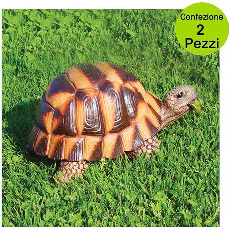 Multipack da 2 pezzi decorazioni animali giardino e laghetto tartaruga media 889