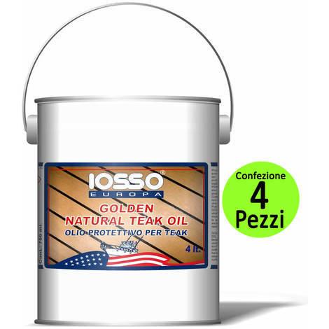 Multipack pezzi 4 iosso golden natoral teak oil olio per teak litri 4