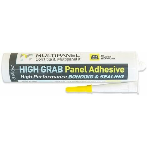 Multipanel Bathroom Shower Wall Panel Grab Adhesive 290ml White Bonding Sealant