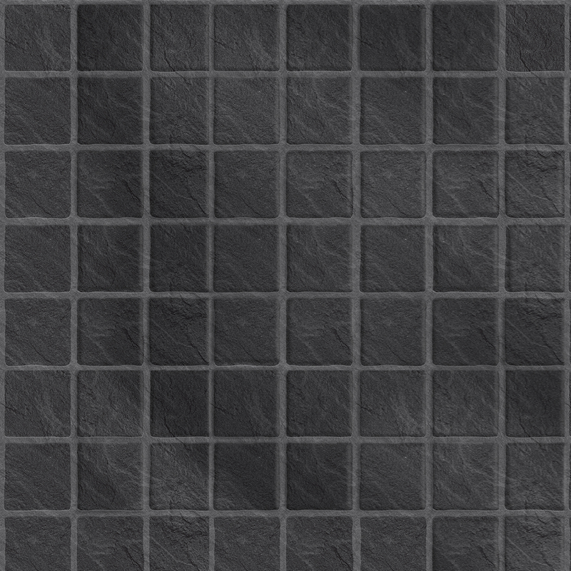 Image of Black Slate Embossed Tile 2440mm x 1220mm Bathroom Wall Panel - Multipanel
