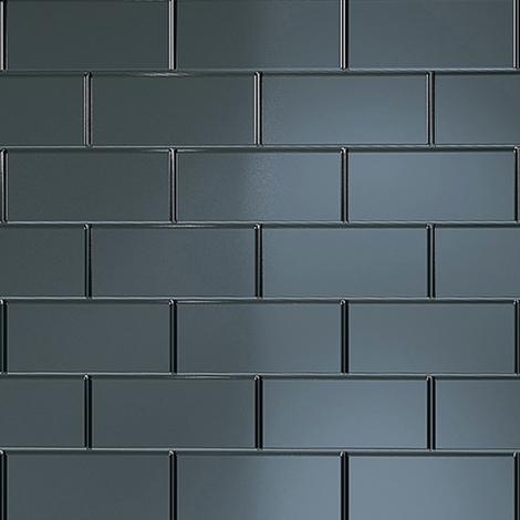 Multipanel Black Vertical Brick Tile 2440mm x 1220mm Bathroom Wall Panel