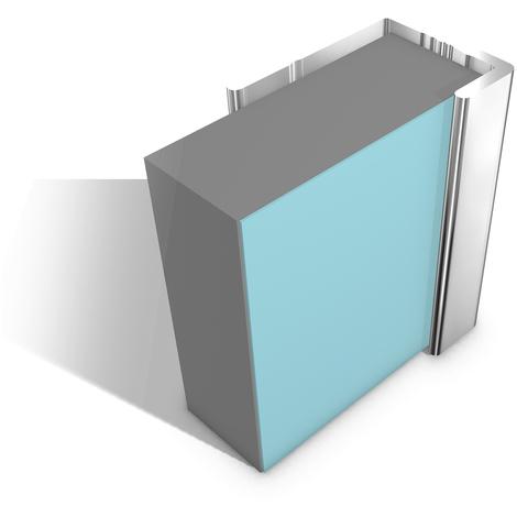 Multipanel Economy 10mm Wall Panel End Cap Trim Type U Silver