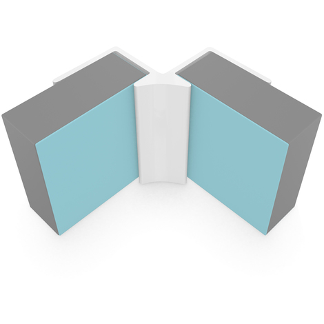 Multipanel Economy 10mm Wall Panel Internal Corner Trim Type V White