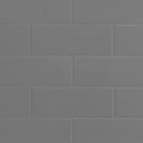 Multipanel Grey Vertical Brick Tile 2440mm x 1220mm Bathroom Wall Panel