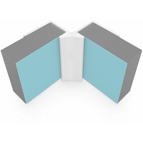 Multipanel Tile 3mm Wall Panel Internal Corner Trim Type J White