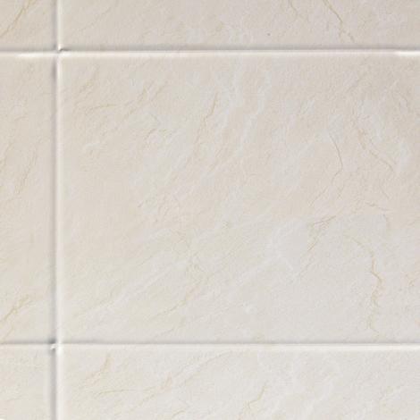 Multipanel White Slate XL Bevelled Tile 2440mm x 1220mm Bathroom Wall Panel