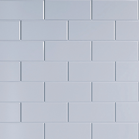 Multipanel White Vertical Brick Tile 2440mm x 1220mm Bathroom Wall Panel