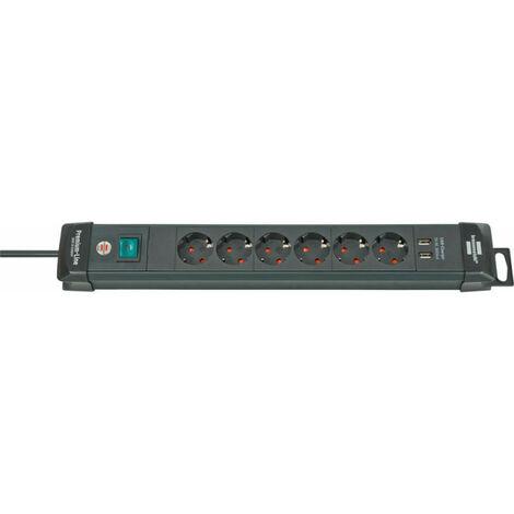 Multiprise 6 prises avec USB Premium Line - 3m H05VV-F3G15 Brennenstuhl