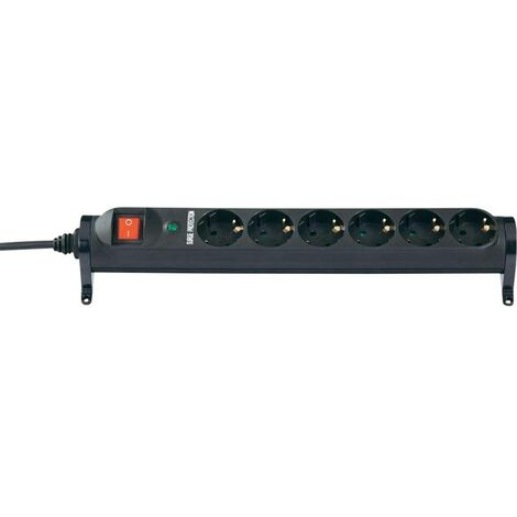 Multiprise avec parafoudre x6 Renkforce 615F-CMB-S IP20 noir