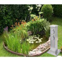 Multiprise Borne Inox 4 Prises Électriques Pour Jardin Et Extérieur