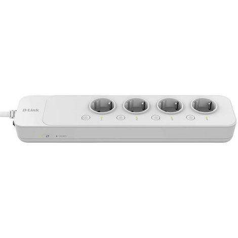 Multiprise intelligente Wi-Fi 4X2P+T 16A contrôle à distance cordon 1.5m conso 4W max avec application Mydlink D-LINK DSP-W245/E