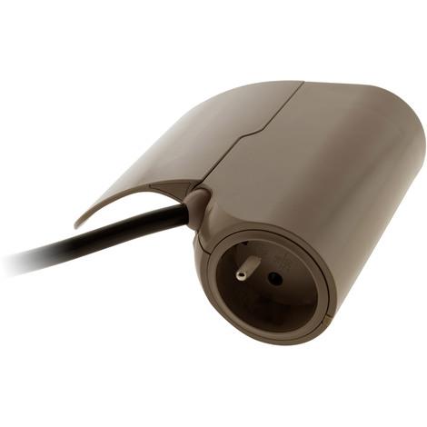 Multiprise pour canapé 1 prise 2P+T 16A + 2 USB