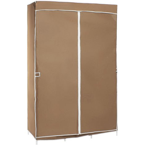 Multipurpose cabinet in Non-woven fabric Canvas Cabinet Shelves - Bedroom cabinet 105x45x165 cm
