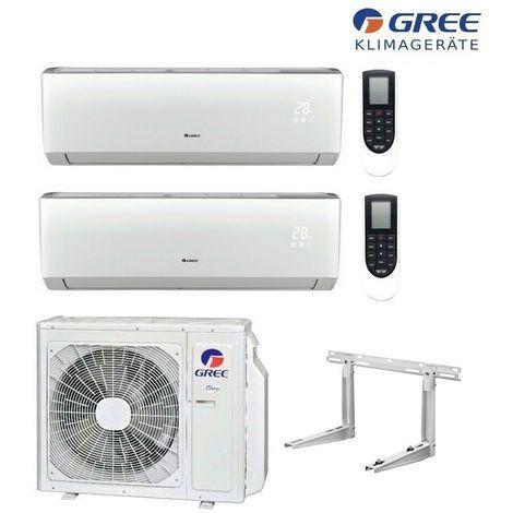 MultiSplit R32 Wifi 2 x 2,1 kW Lomo Klimaanlage GREE Inverter Aussen 4,1kW