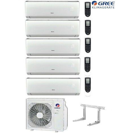 MultiSplit R32 Wifi 5 x 2,1 kW Lomo Klimaanlage GREE Inverter Aussen 12,0 kW
