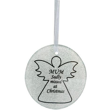 Mum Angel Christmas Tree Memorial Tribute Ornament Bauble Decoration Xmas