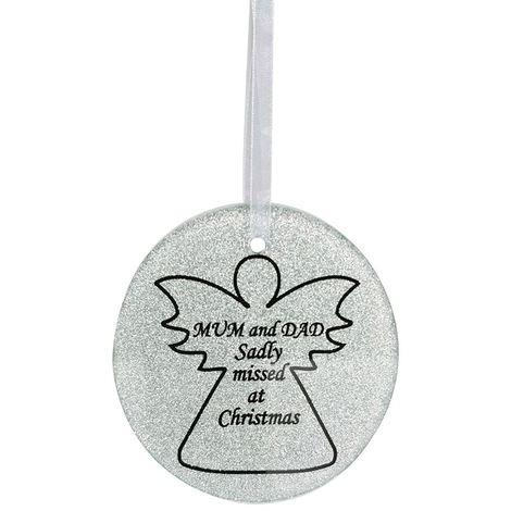 Mum Dad Angel Christmas Tree Memorial Tribute Ornament Bauble Decoration Xmas