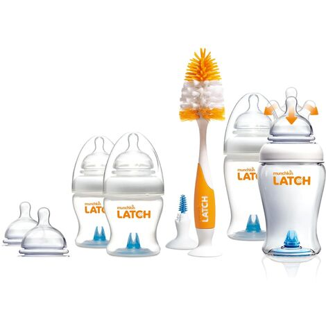 Munchkin 12 Piece Newborn Bottle Gift Set LATCH