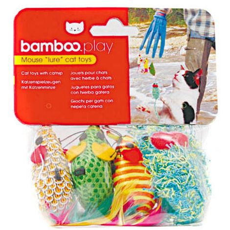 Munchkin Bamboo Catfisher Mouse Toy Replacement Pack (One Size) (Multicoloured)