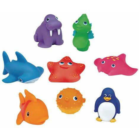 Munchkin Squirting Bath Toys Ocean 8 pcs - Multicolour