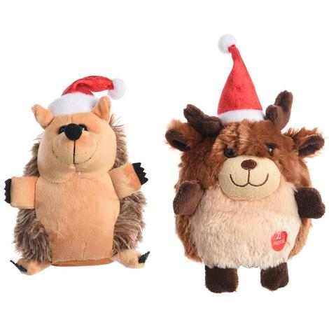 Muñeco De Navidad 2 Modelos (Reno. Erizo) Funcion Cantar Y Bailar - NEOFERR