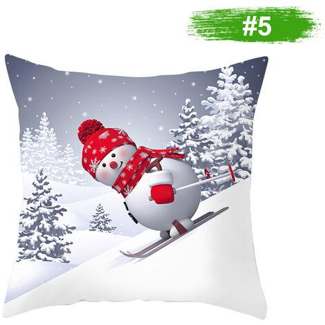 Muneco de nieve de la funda de almohada cubierta decoracion del hogar del amortiguador del sofa cubierta 450 * 450 mm, 5 #