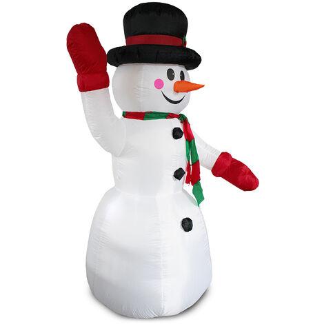 Muñeco de nieve hinchable con LED brillantes - 240cm