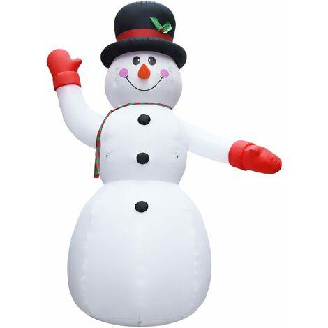 Muñeco de nieve inflable de Navidad con LED IP44 450 cm XXL