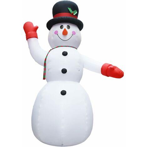 Muñeco de nieve inflable de Navidad con LED IP44 600 cm XXL