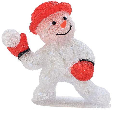 Muñeco de nieve modelo solar H30cm.