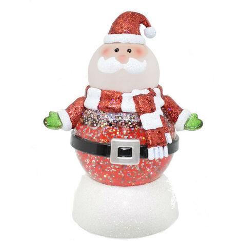 Muñeco de nieve Wimex Santa Claus brillante maxi Led RGB 4501082