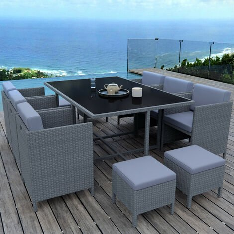 MUNGA 10 Places - Ensemble encastrable salon / table de jardin ...