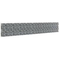 Mur à gabion avec couvercles Acier galvanisé 600 x 30 x 100 cm