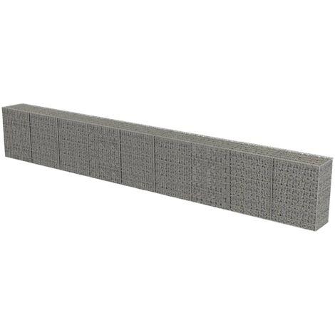 """main image of """"Mur à gabion avec couvercles Acier galvanisé 900 x 50 x 100 cm"""""""