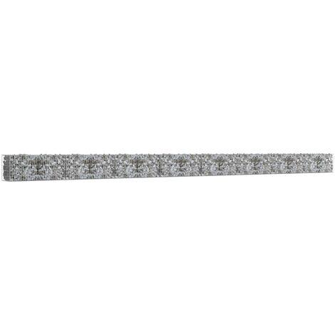 Mur à gabion avec couvercles Acier galvanisé 900 x 50 x 50 cm