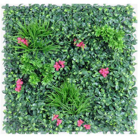 Mur artificiel PLAQUE A (5 cm) Haut de Gamme Mur EXTÉRIEUR / INTÉRIEUR Plantes artificielles - VERT