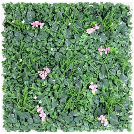 Mur artificiel PLAQUE B (5 cm) Haut de Gamme Mur EXTÉRIEUR / INTÉRIEUR Plantes artificielles - VERT