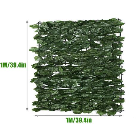 Mur de clôture de plante artificielle haie verte feuille de lierre jardin toile de fond décor d'herbe