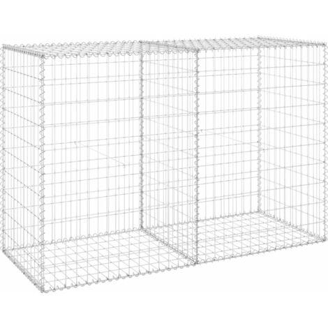 Mur en gabion avec couvercles Acier galvanisé 150x60x100 cm