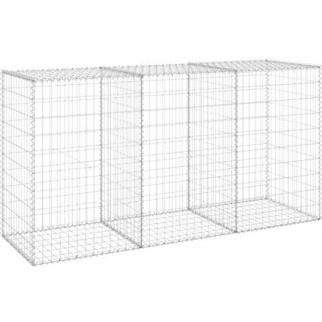 Mur en gabion avec couvercles Acier galvanisé 200x60x100 cm